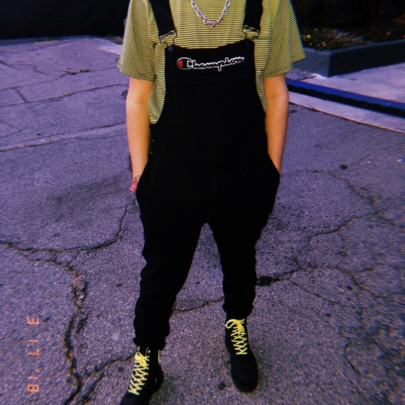 063a52be15 Champion Other - Champion Black Fleece Overalls